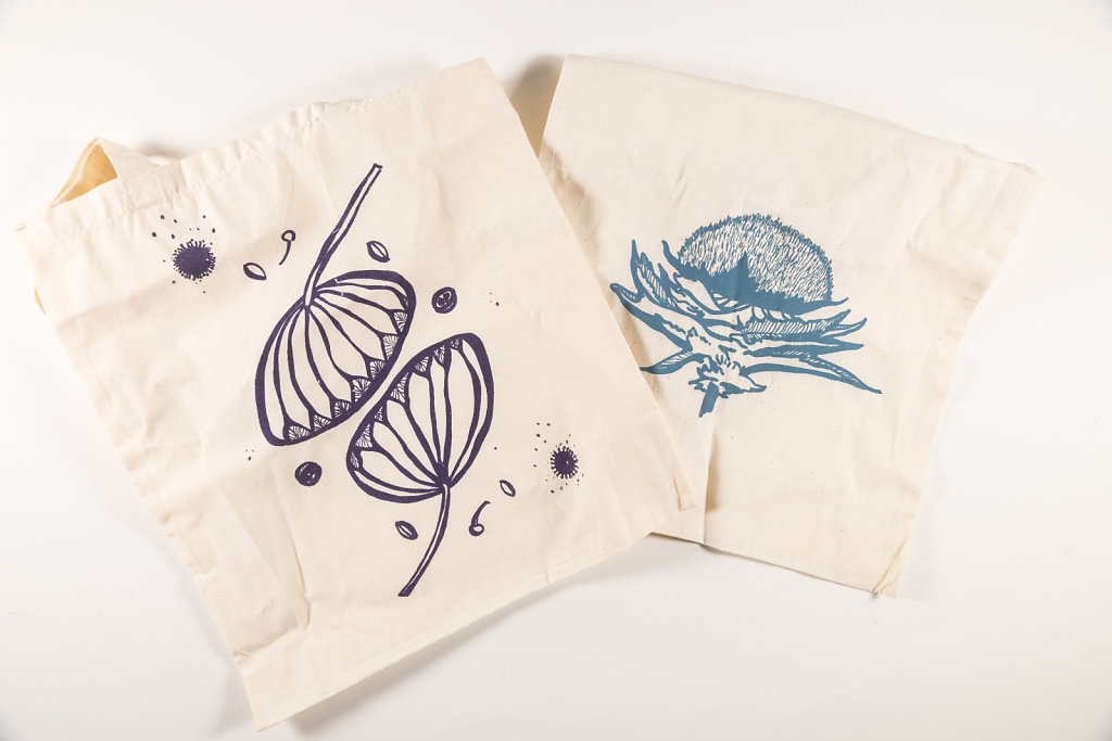 Prints on cloth bags